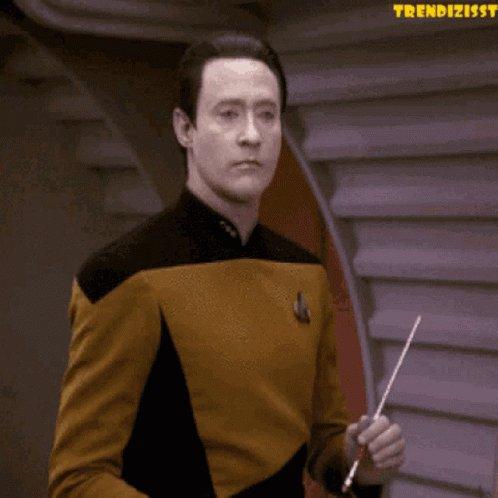 Data Star Trek GIF