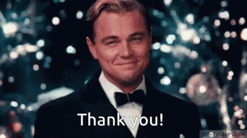 Leonardo Dicaprio Thank You...