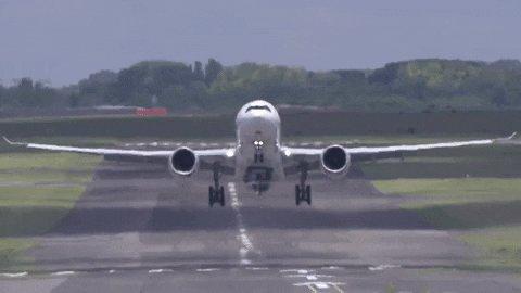 Take Off Airplane GIF by Safran