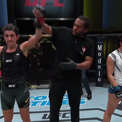 A breakout performance for the fantastic @WMMARZ!  Five hard-fought rounds for 🇧🇷 Marina Rodriguez in the books! #UFCVegas26 https://t.co/l31mlXT9Dy
