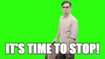 Its Time To Stop Clock GIF