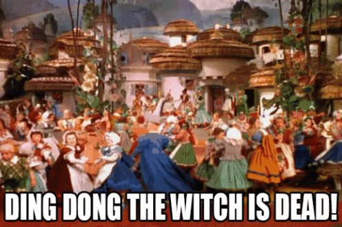 Ding Dong The Witch Is Dead Wizard Of Oz GIF