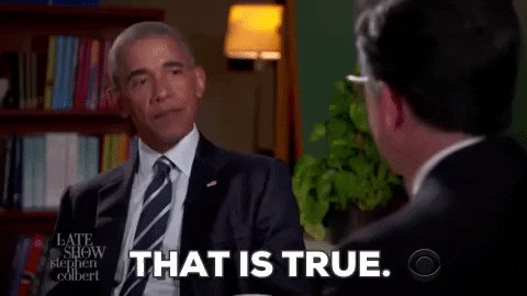 that is true stephen colbert GIF by Obama