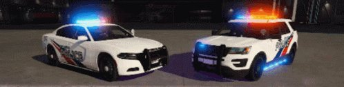 Police Patrol Car GIF