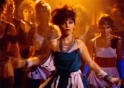 Dancing Pat Benatar GIF