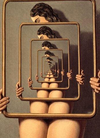 reflect rene magritte GIF by Feliks Tomasz Konczakowski