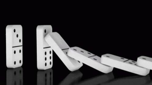 Dominos Falling GIF