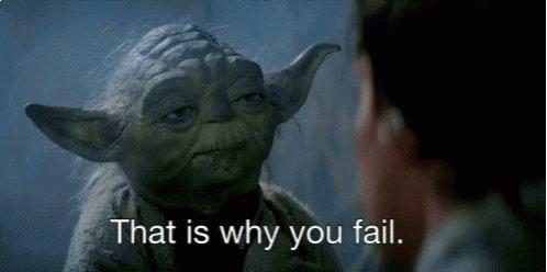 Fail Yoda GIF