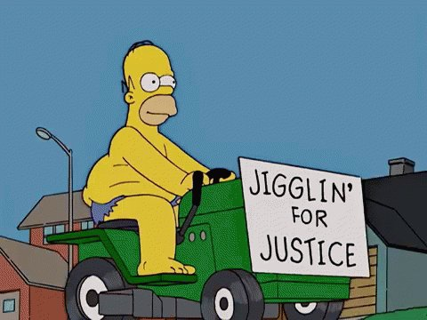 Jigglin For Justice Homer GIF