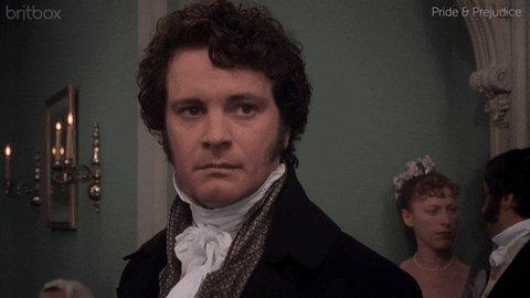 Colin Firth as Mr. Darcy in...