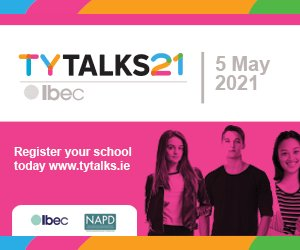 Today, thousands of TY students are tuning into #tytalks21 to hear from a stellar speaker panel about the #WorldofWork, #FutureofWork & the different education pathways to reaching your dream job.  Here's how we're supporting https://t.co/3gdqEgeP31 @NAPD_IE @ibec_irl