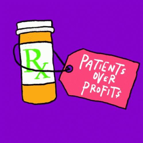Patients Over Profits Rx GIF