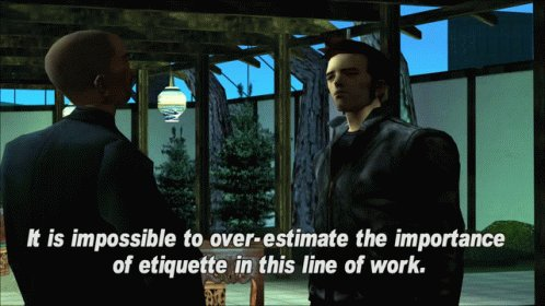 A game scene from the 2000s with two characters talking, cap
