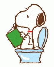 Snoopy Poop GIF