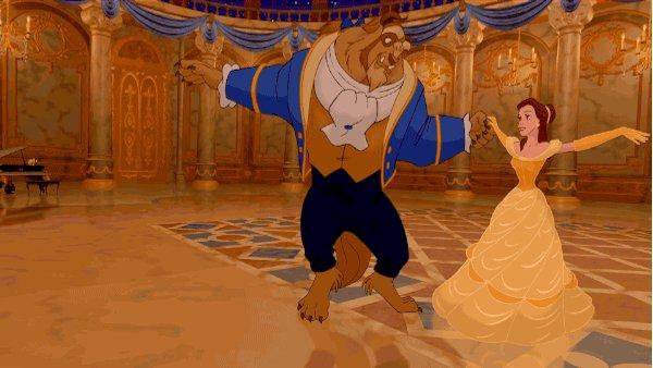beauty and the beast ballroom GIF by Disney