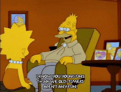 season 4 grandpa simpson GIF