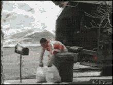 Garbage Collector Breaking Bin Garbage Collector Breaking Ma