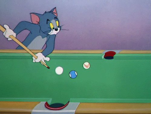 Tom And Jerry Cartoon Cue Ball Cat GIF