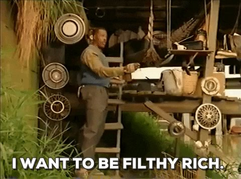 I Want To Be Filthy Rich Meshach Taylor GIF by Filmeditor