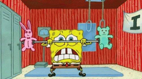 Spongebob Lifting GIF