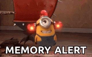 Minion Memory Alert GIF