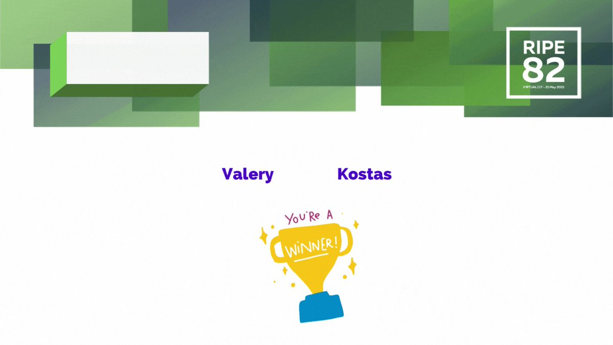 Image for the Tweet beginning: Congratulations to Valery and Kostas