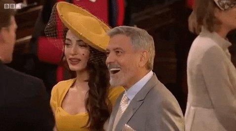 George Clooney Royalwedding GIF by BBC