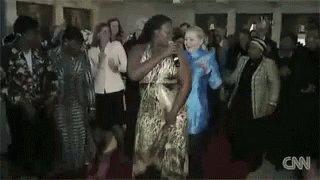 Funnyhillary Dance GIF
