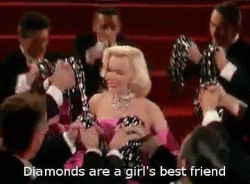 diamonds are a girls best friend GIF