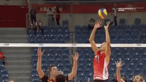 Volleyball Championships Spike GIF