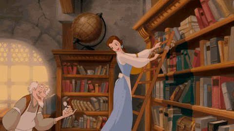 read beauty and the beast GIF by Disney