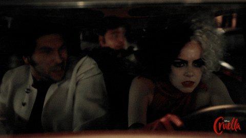Driving Emma Stone GIF by Walt Disney Studios