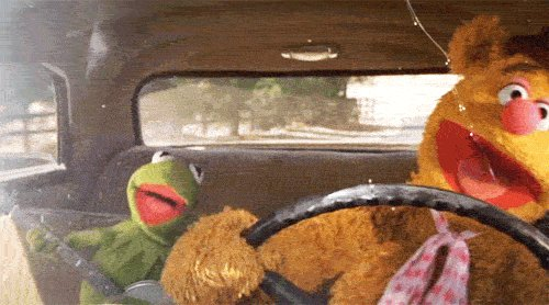 kermit fozzie moving right along