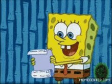 Spongebob Squarepants To Do List GIF