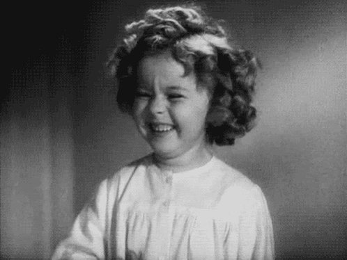 Shirley Temple Laughing GIF