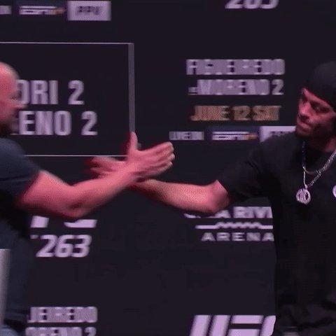 2️⃣0️⃣9️⃣ is BACK in the building    [ @NateDiaz209   #UFC263 ] https://t.co/OaeVlA6h92