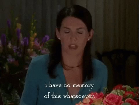 Cant Remember Season 1 GIF by Gilmore Girls