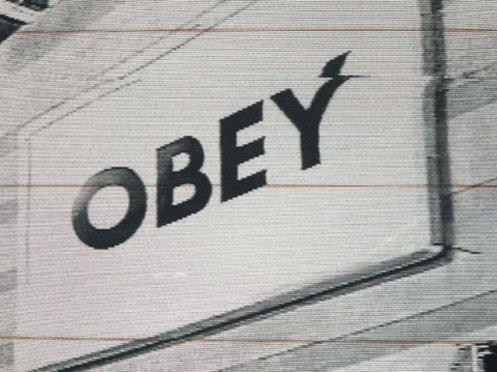 Obey Glitch GIF