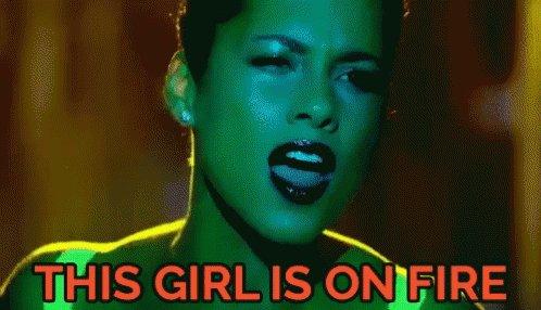 Alicia Keys Girl On Fire GIF