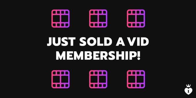 Vid Membership SOLD! I love new members! Join here! https://t.co/KwXxiFS6eY #MVSales https://t.co/It