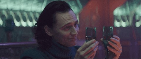 Tom Hiddleston Cheers GIF by Nerdist.com