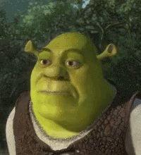 Eyebrow Raise Shrek GIF