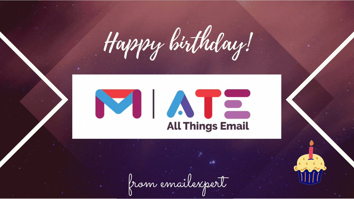Image for the Tweet beginning: Happy Birthday All Things Email!