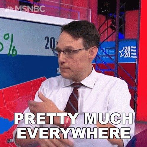 Pretty Much Everywhere Steve Kornacki GIF