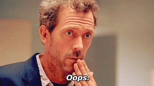 Hugh Laurie - My Bad GIF