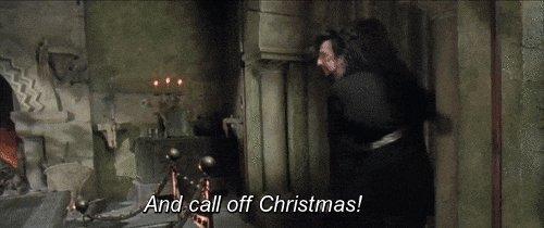 Alan Rickman Call Off Christmas GIF