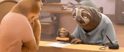 Sloth Zootopia GIF