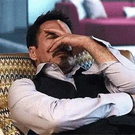 Robert Downey Jr Facepalm GIF