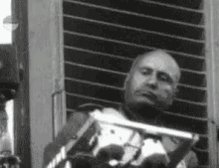 Mussolini Serious GIF