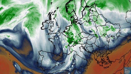 The jet stream pattern which led to the catastrophic #EuropeFloods https://t.co/VXH7MlGU5u